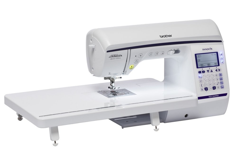 Brother NQ1300PRW * 290 Built-in stitches * sideways sewing * my custom stitch * Jam resistant quick set drop in bobbin * speed control * automatic height adjustment