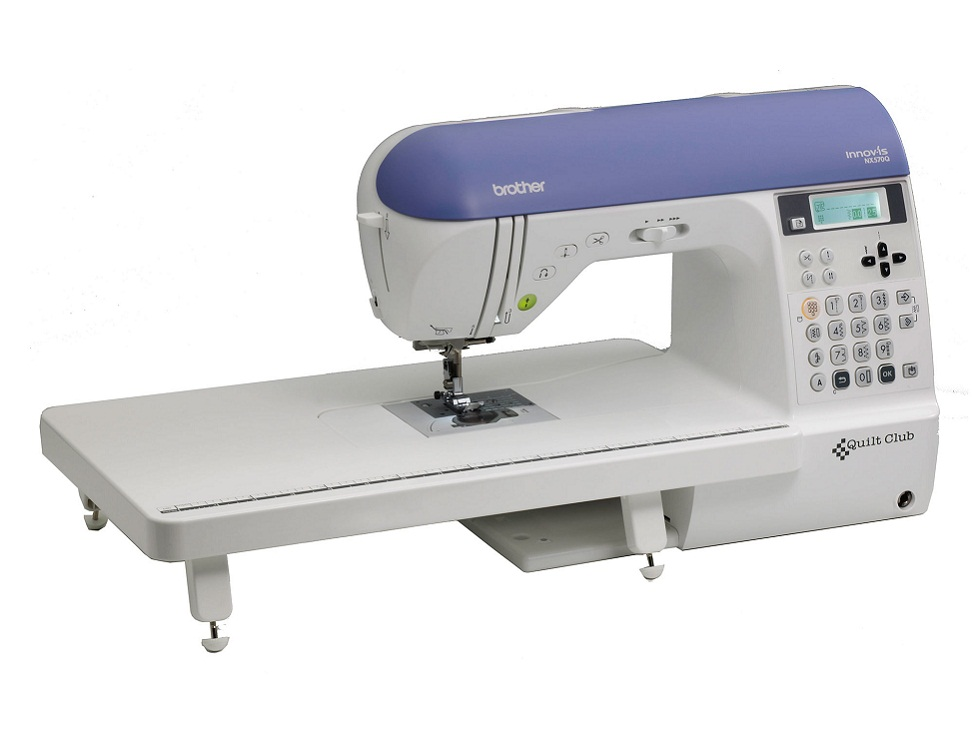 Brother NX570Q * 129 Sewing Stitches * 10 memory pockets * Protective hard cover * Wide table * LCD screen