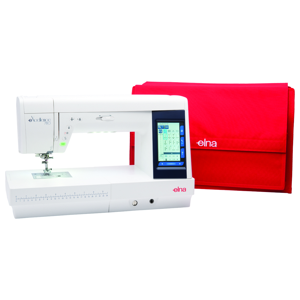 Elna 780 * 350 stitches built-in * 91 needle positions * full cover high definition LCD * automatic thread cutter * locking stitch * needle threader