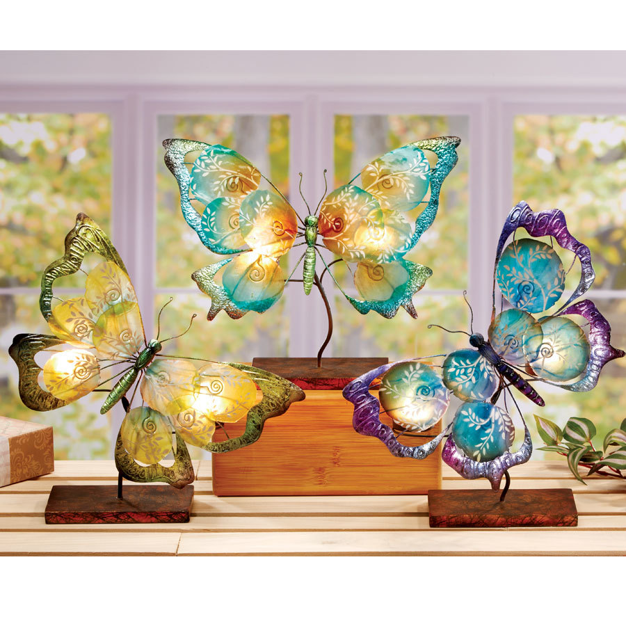 Large Butterfly candle holder