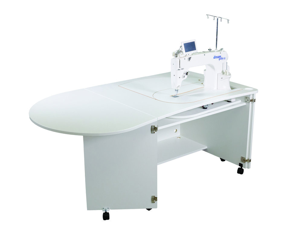 Brother dream quilter 15 sit - down  * Carousel table for easy machine positioning  * inserts for large flat surface  * folding leaf for larger quilting area