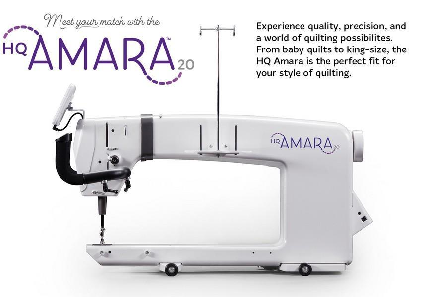Experience quality, precision, and a world of quilting possibilities. From baby quilts to king-size, the HQ Amara is the perfect fit for your style of quilting.  The HQ Amara 20-inch longarm machine with HQ Studio2 Frame (choose from 10-foot or 12-foot). Everything you need for free-motion quilting right out of the box (including a powerful stand-alone bobbin winder).
