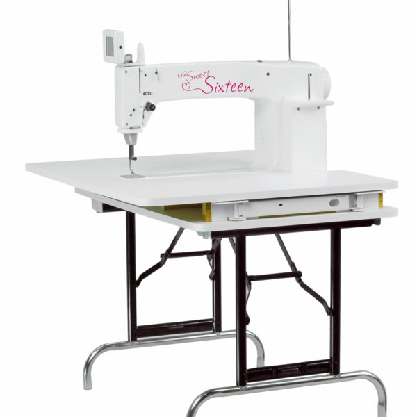 Introducing the most technologically advanced way to sit-down free motion quilt with stitch-regulation. Handi Quilter's HQ Sweet Sixteen is simply the best way for quilters to tackle projects with a sit-down machine. With the introduction of TruStitch, quilters are now able to create quilt designs with beautifully even stitches.