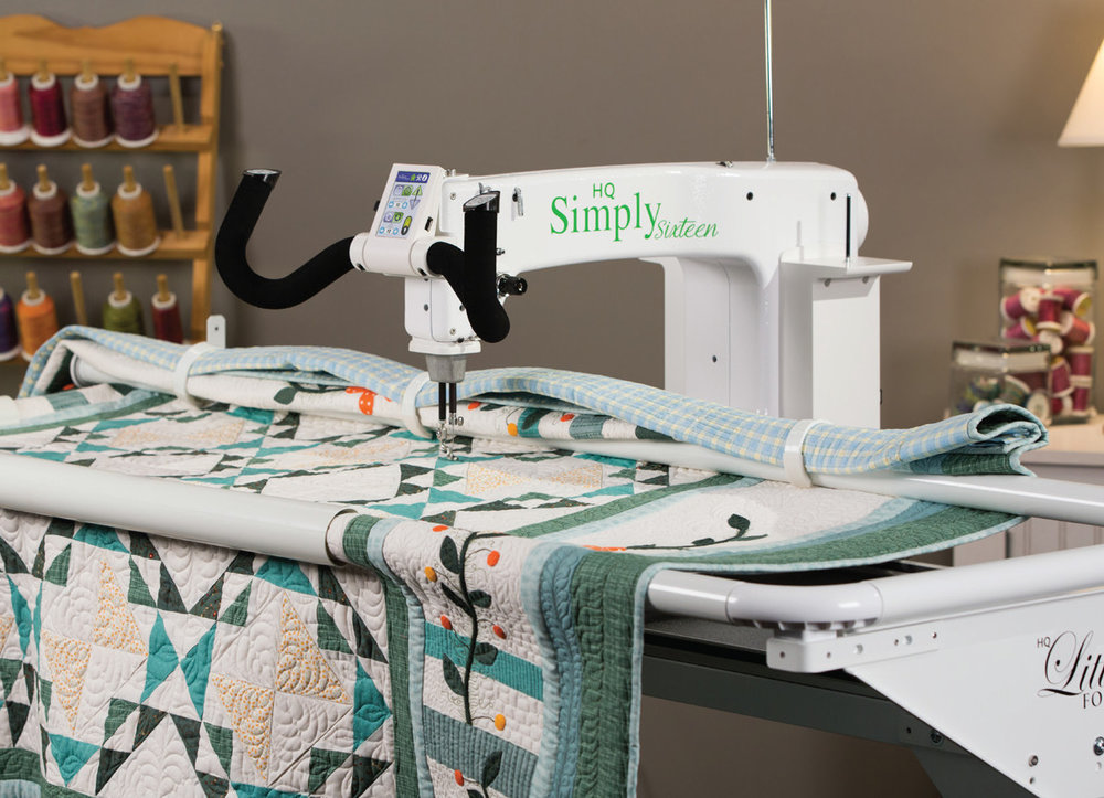 Don't let space restrictions dictate what you can create. Combined with the HQ Little Foot Frame™ system, the HQ Simply Sixteen enables any quilter, beginner to advanced, to finish any size quilt without the space requirements of a conventional frame system. Integrated technology and engineering provide the functionality that quilters demand, paired with the smoothest stitch in the industry. Handcrafted in the U.S.A., the HQ Simply Sixteen is backed by the HQ warranty and a large network of local representatives. It's simply the best solution when space is at a premium.