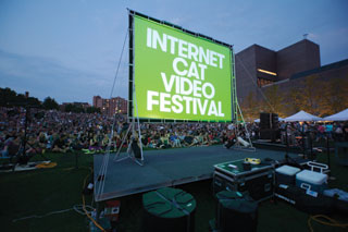 Last summer's Internet Cat Video Festival at the Walker Art Center in Minneapolis drew a crowd of 10,000.