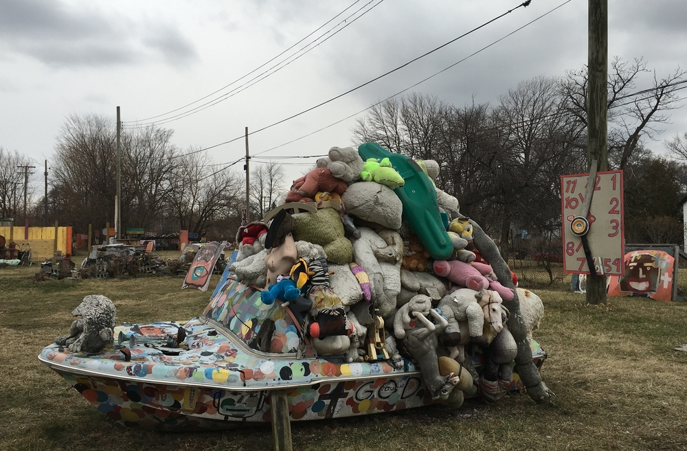 Visiting Tyree Guyton's Heidelberg Project in Detroit.                                                         (For images from prior weeks, visit Pinterest.)