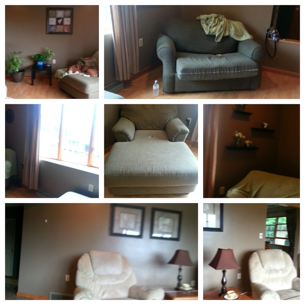 The before pics.  A nicely decorated room, that just benefited from some fresh paint and fabrics.