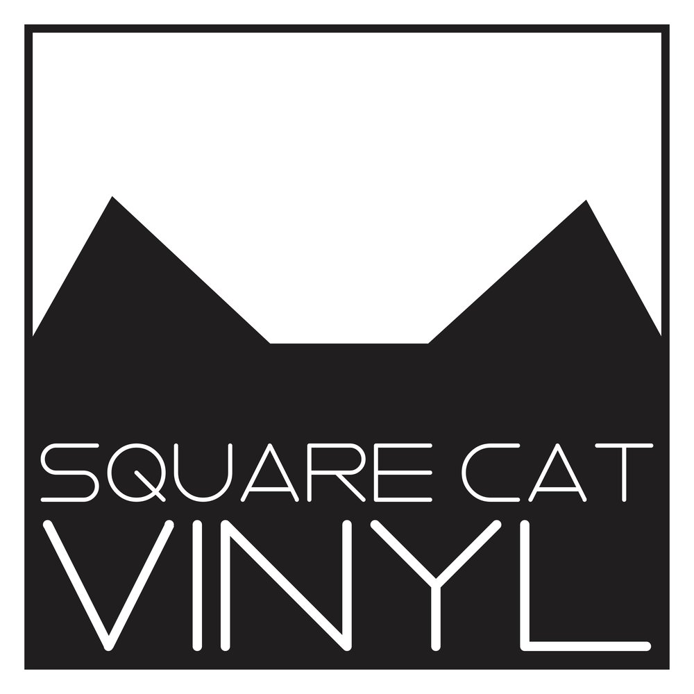 square cat vinyl logo