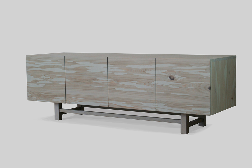 lowboy media cabinet - graywash