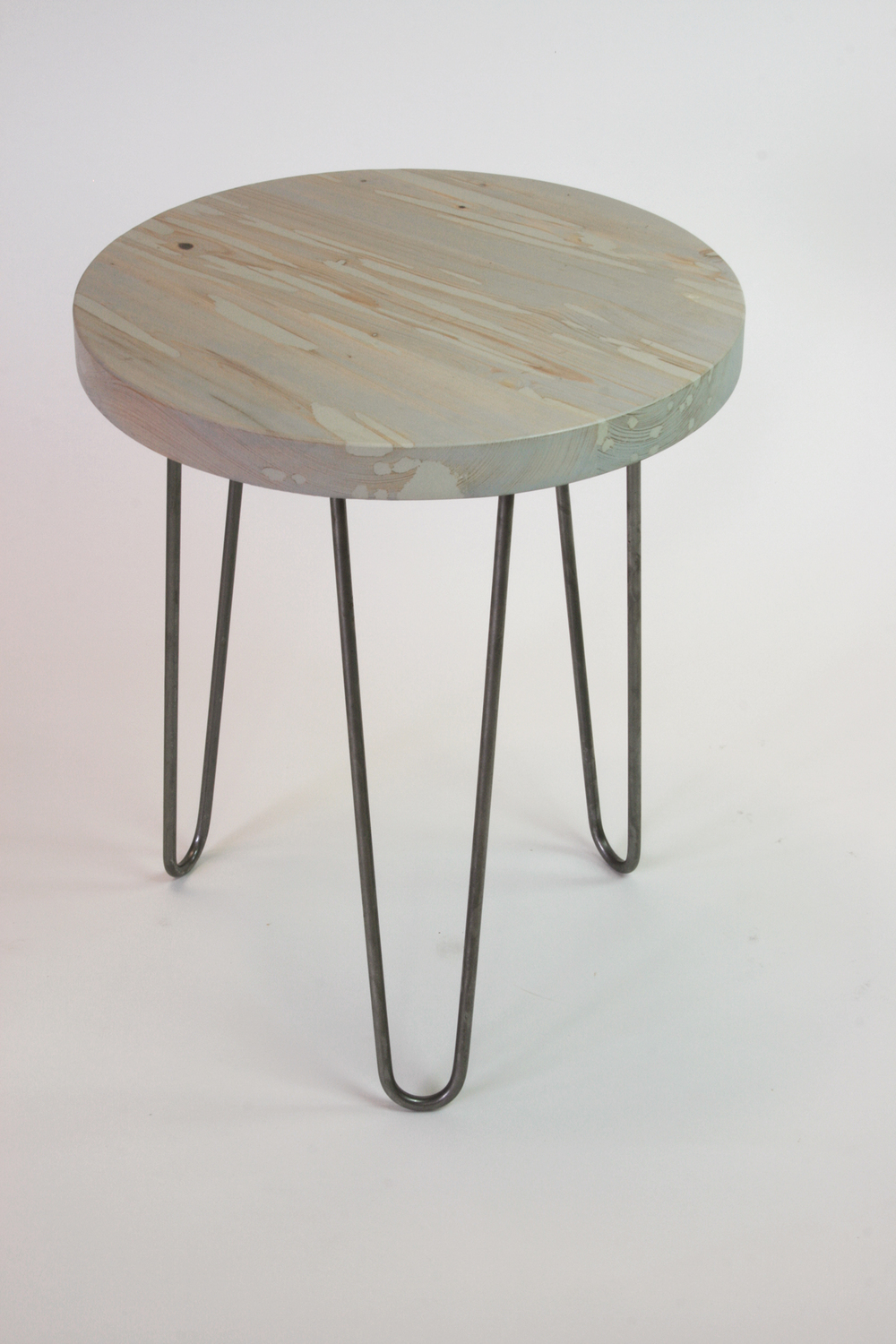 griffin table - gray wash