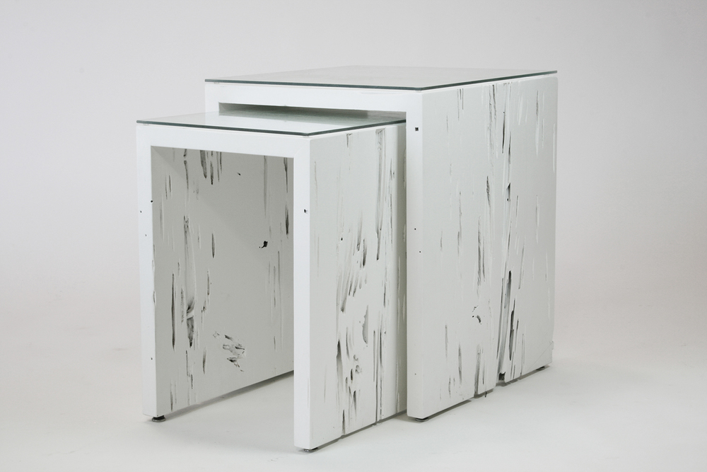 nesting tables - white gloss