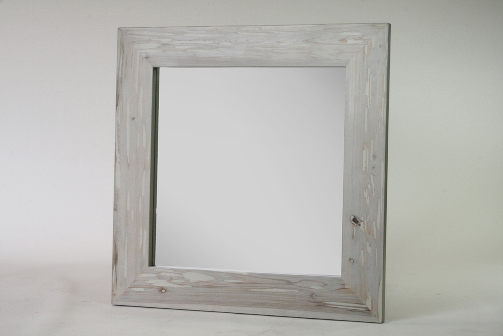 large square mirror - gray wash