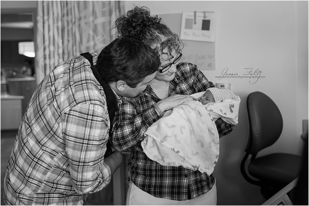 Hendersonville NC birth photography