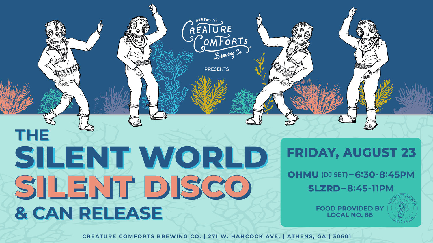 The Silent World Silent Disco Creature Comforts Brewing Co