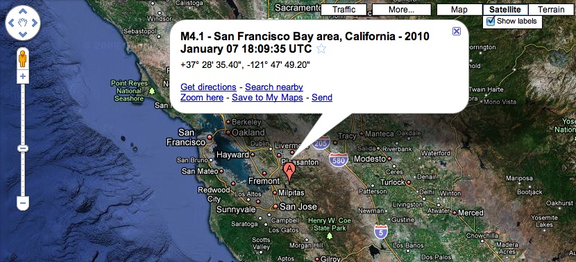 Apparently, I just lived through  my first earthquake  as a San Francisco resident.