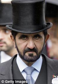 UAE Prime Minister Sheikh Mohammed Bin Rashid Al Maktoum, taking his fashion cues from Abe Lincoln.