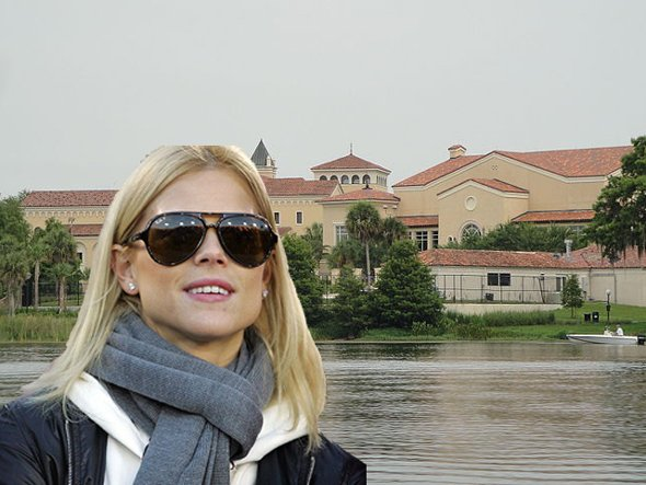 Elin Nordegren enrolled at Rollins College, studying psychology. I'll just leave that alone.