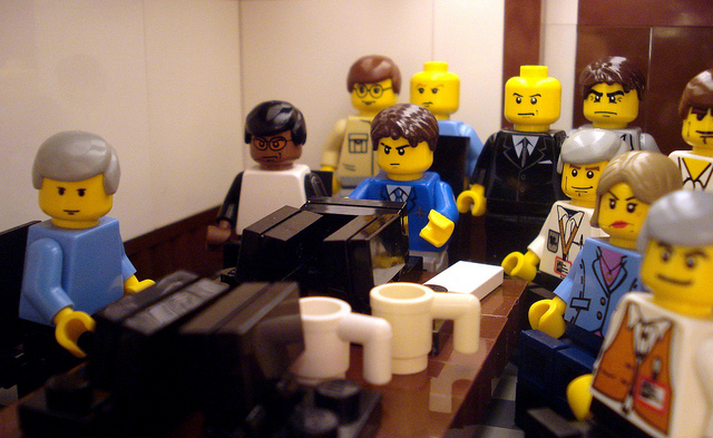 saragregory :     My favorite photo from the 2011 in Legos series. Original  here . (via  The Guardian on Flickr )     I am fully in support of Legos depicting the most important events of life but no plastic head could ever match Hill's face in the original.   There are so many other problems, too. Those coffee cups.