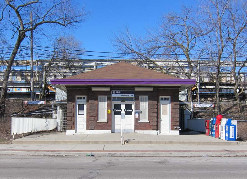 Our current retail entrance is located in the ALLEY behind 821 Chicago Avenue, accessible from the Purple Line CTA  (Main St) or Main Street Metra