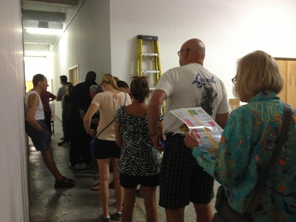 Folks lining up for Sketchbook tasting