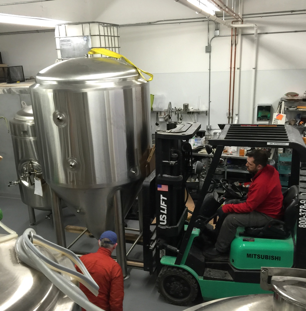 Cesar moving in our new fermenter.