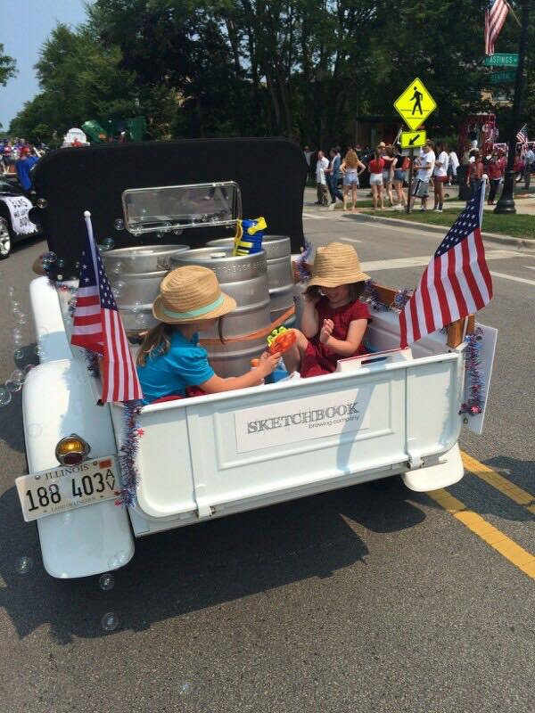 the girls representing at 4th of July parade 2015