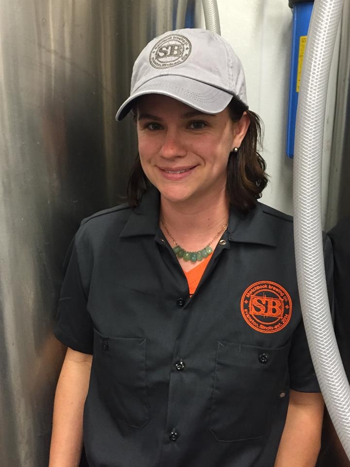 Amy decked out in new SB workshirt and hat