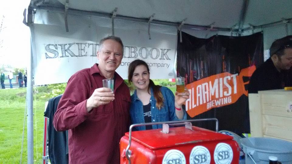 Shawn Decker and Tara Kosloski at Beer Under Glass 2015