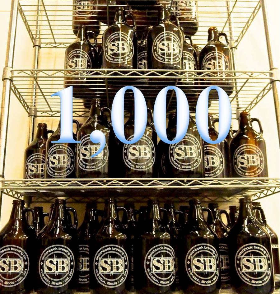 Our first full month of biz: 1,000 growlers sold!