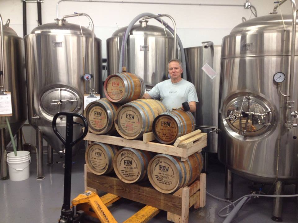 Barrel-aging our Strong Scotch Ale in Few Barrels