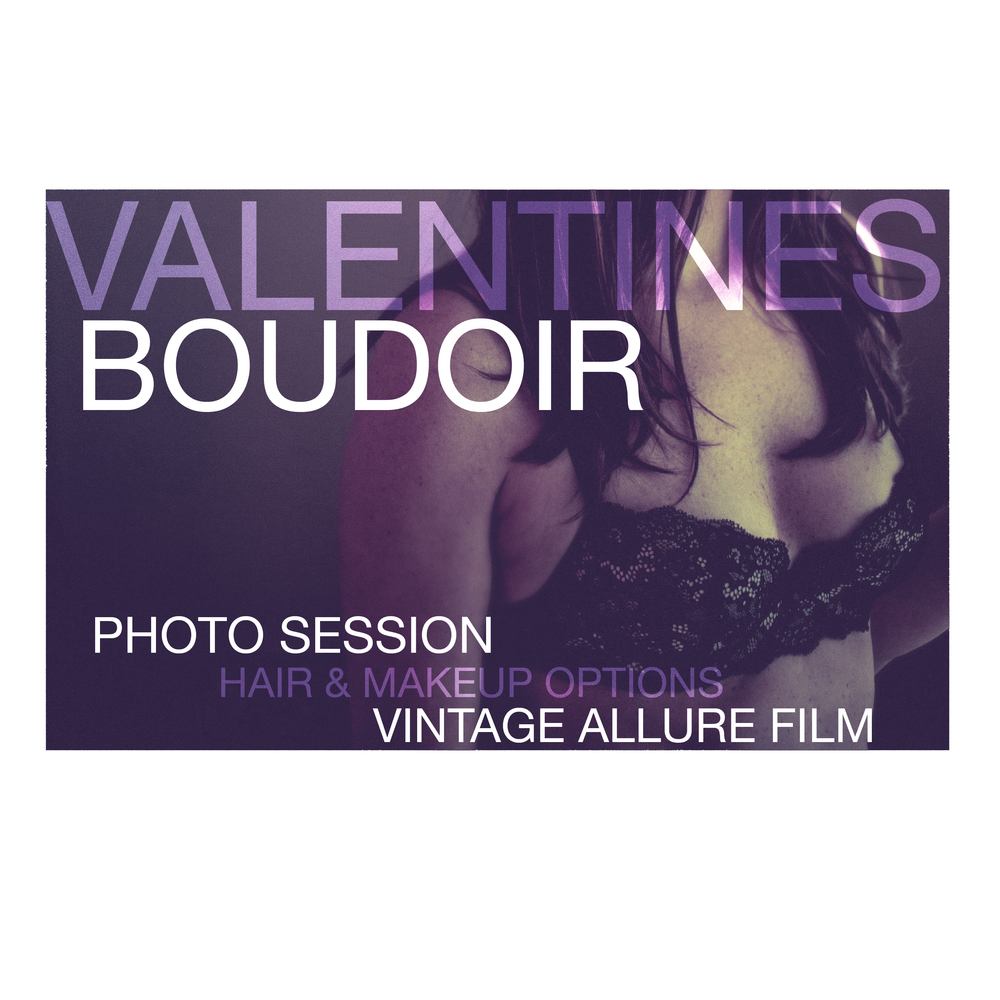Valentines Boudoir sessions for individuals or couples this weekend! This is a very fast turn around and includes a unique element I have yet to see photographers offer with boudoir shoots! I am now offering vintage styled mini Allure films! Allure films are made up of many small clips organically captured throughout the shoot and then composed artfully to highlight your unique authentic beauty through moving pictures. An awesome part about these Allure films is you can text it to your Valentine on Valentines day! Your Allure film can be personalized to your favorite song! I have fantastic locations in mind and will solidify those based on the client! Gift cards are available for giving a Boudoir & Allure film session as a gift!   <3 BOUDOIR & ALLURE FILM SESSION <3 $175 (One week only! VALENTINES DAY SALE reg $275) * 45 minute Boudoir & Allure film session * A vintage mini allure film 1-3 mins (formatted to be able to text it to your valentine! <3) * A private online viewing gallery password protected for two weeks * USB with copyrights to final edited images & video * 8 5x7 prints   Hair & Makeup options are available for an additional fee.   email wintersphotographyco@gmail.com to book your spot!
