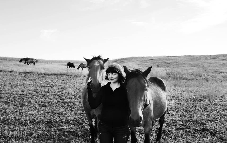 North Dakota filming rare Nakota wild horses for a music video.