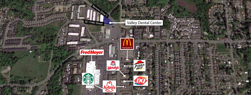 Renton Dental Office AGM Map.png