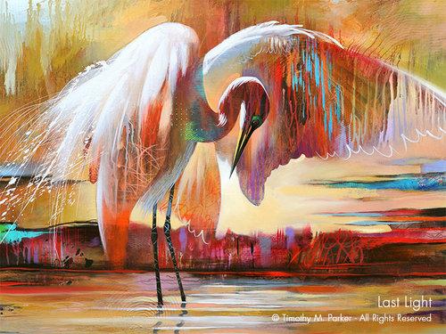 abstract animal art tropical bird art artist tim parker art2d