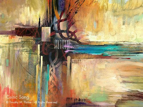 celtic song abstract fine art print art2d gallery naples fl