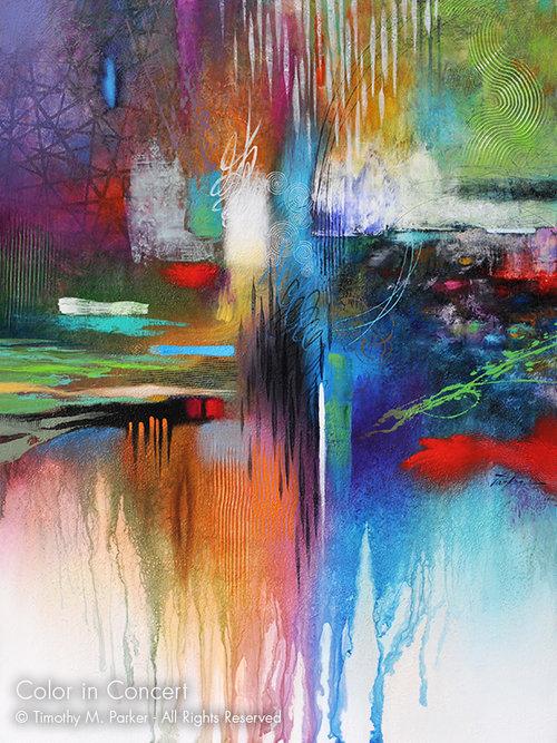 color in concert abstract fine art print art2d gallery naples fl