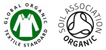 Prenda de Algodón Orgánico 100 % , de acuerdo al Global Organic Textile Standard (GOTS) procedente de la India y Certificado por la Control Union and Soil Association.