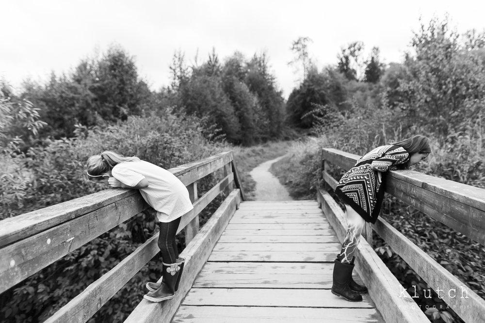 girls on bridge