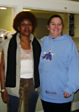 Pat's Clothing Bank Staff: Roseann Lauzon & Iris Jackson