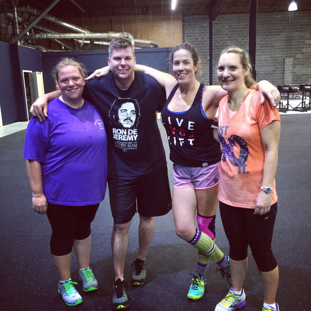 Jenny, Shane, Cameron & Jill after our first official 6am class