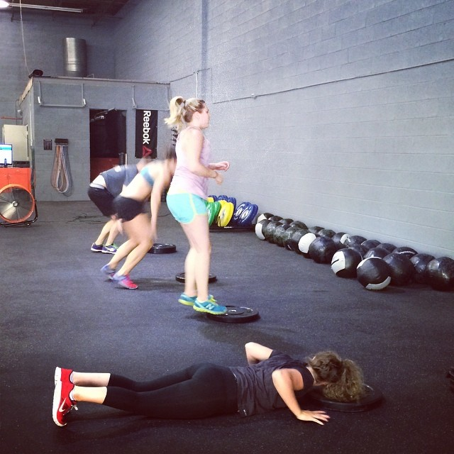 Monday's EMOM of wall balls and burpees