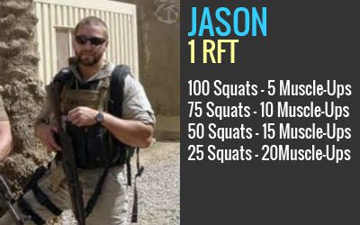 "Jason Dale Lewis    S01 SEAL was killed by an IED while conducting combat operations in Southern Baghdad July 6, 2007. We name this workout ""Jason"" in honor of his life, family, and courage."