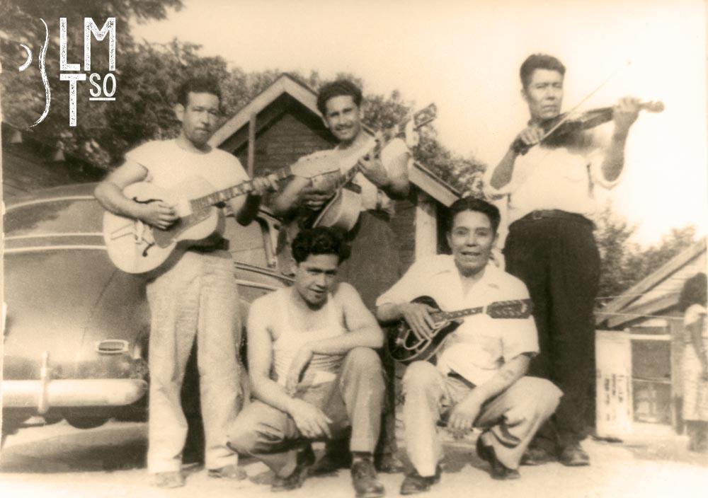 1940s Musicians: (top) Leo Deloa, Arturo Huerta, Juan Barrientos, MartinDeloa, Vidal Barrientos