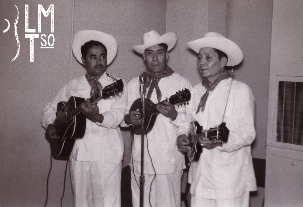 1952. Tampico Trio. Gilbert Buso, Juan Barrientos, and Vidal Barrientos.