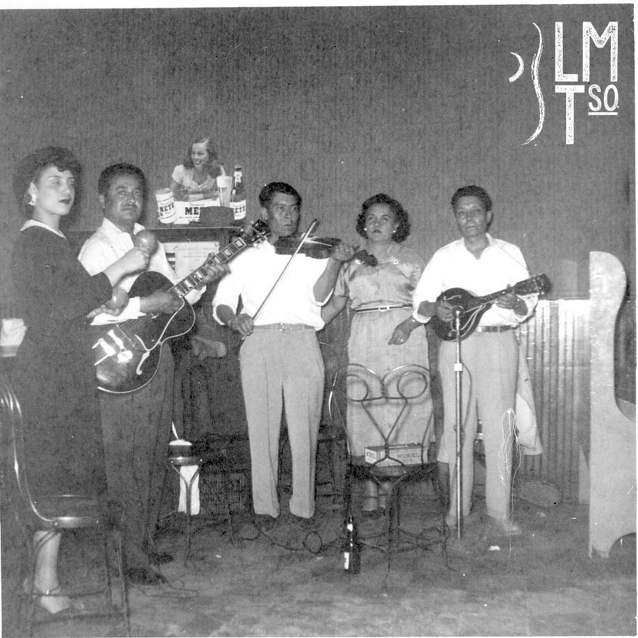 1955 George's: Helen & Gilbert Buso, Juan, Eduarda, Vidal Barrientos