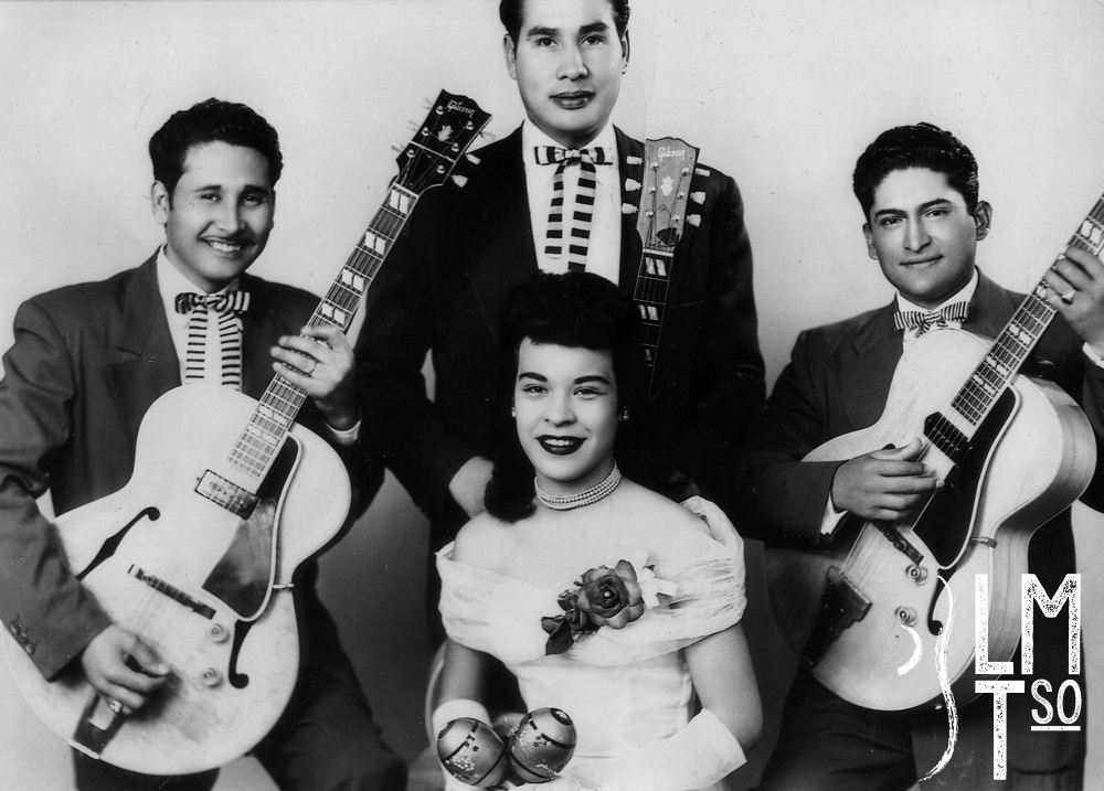 1950s Don Chico Gomez Quartet. Arturo Huerta, Don Frank 'Chico' Gomez, Louie Magallenes and Ruth Francis 'Betty' Martin Hilario