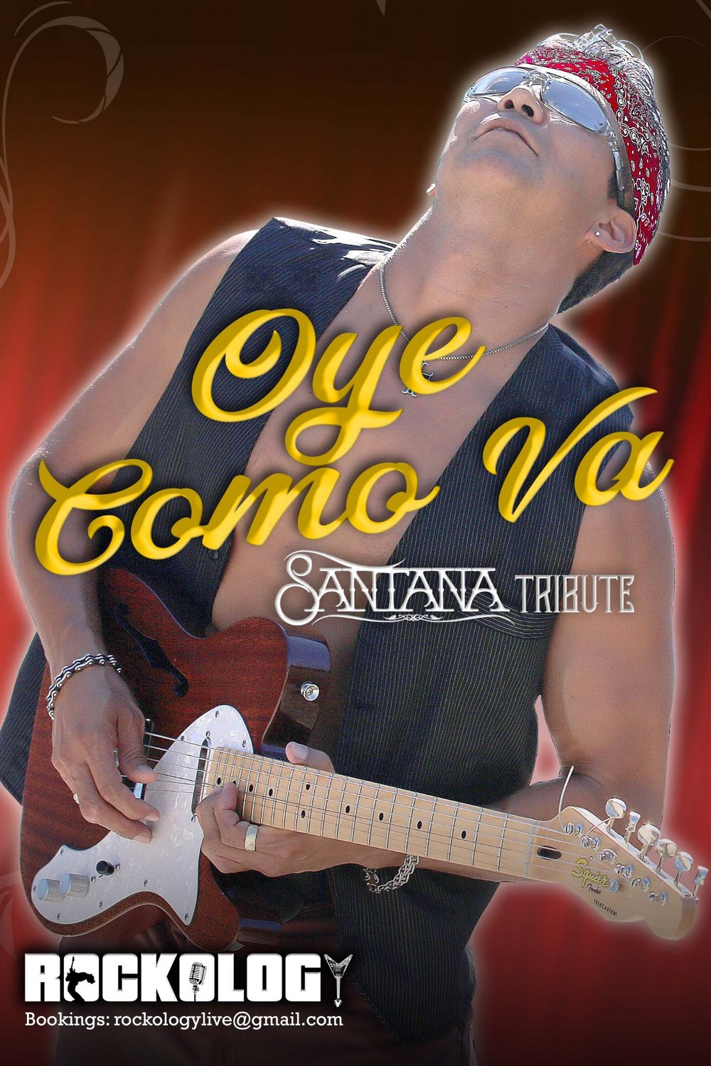 Experience the live energy of Oye Como Va that pays tribute to one of the greatest artists of all time—SANTANA. The band rocks with a full line up of congas, timbales, drums, bass, guitar, keyboard, singers and lead guitar.   Hits performed…    Evil Ways, Oye Cómo Va, Black Magic Woman, Maria Maria, No One To Depend On, All I Ever Wanted, Smooth, Samba Para Ti, Europa, All I Ever Wanted, Jingo, Soul Sacrifice and many more!