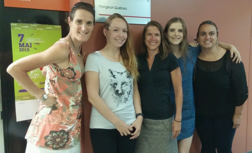 De gauche à droite : Marcelle Rousseau, Maëlle Dancause, Isabelle Cloutier, Delphine Lachapelle et Claudie Dumais