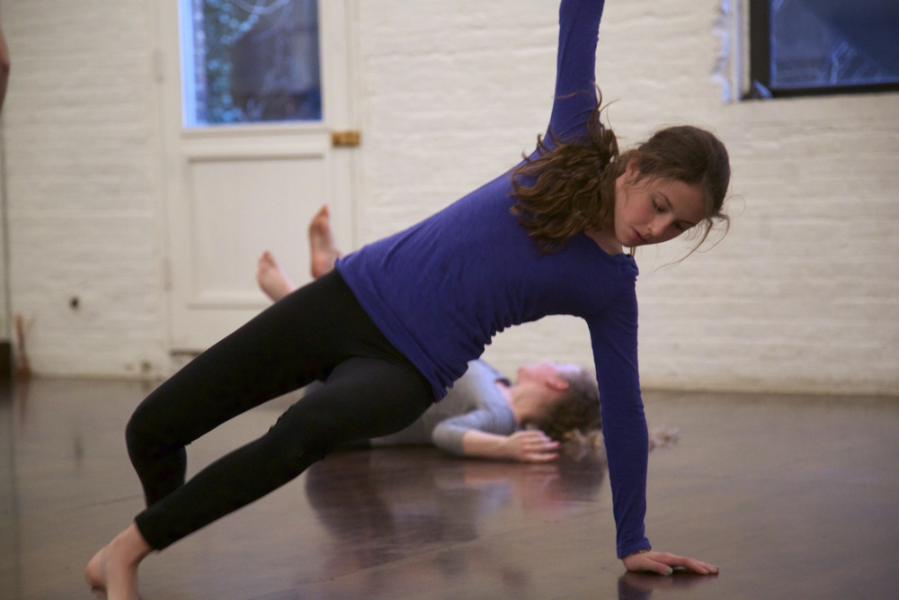 """Lila rehearsing her choreography in """"Here/Waiting"""" in March 2015."""