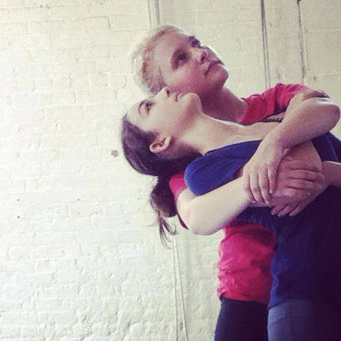 Ella and Ali in rehearsal at e.g.dance Summer Dance Intensive 2014.